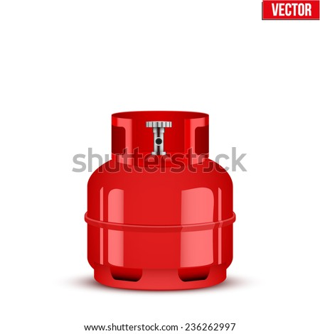 Propane Gas small cylinder. Vector Illustration isolated on white background. - stock vector
