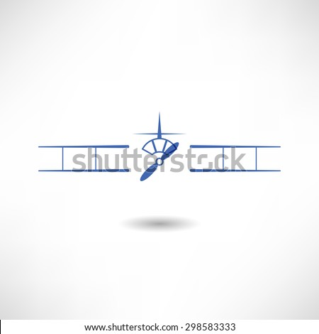 Propeller aircraft icon - stock vector