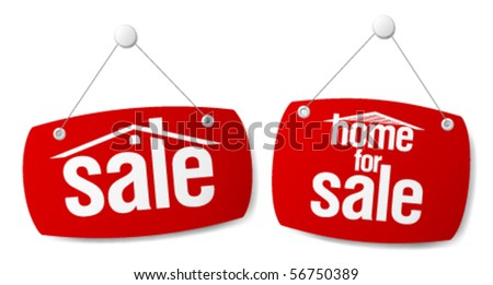 Property Sale Vector Signs - stock vector