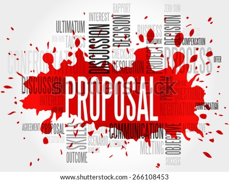 Proposal word cloud, business concept - stock vector