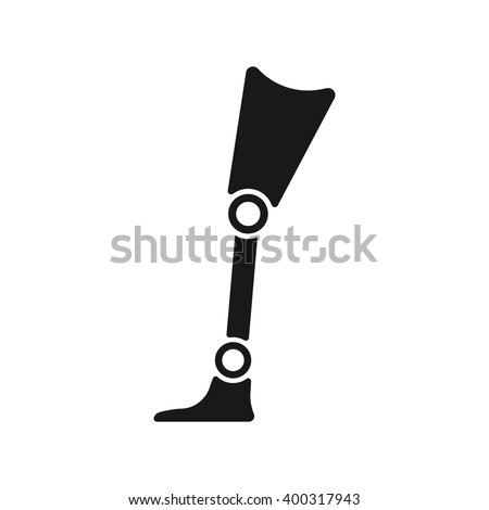 Prosthesis icon, Prosthesis icon eps10, Prosthesis icon vector, Prosthesis icon eps, Prosthesis icon path, Prosthesis icon flat, Prosthesis icon app, Prosthesis icon web, Prosthesis art, Prosthesis AI - stock vector