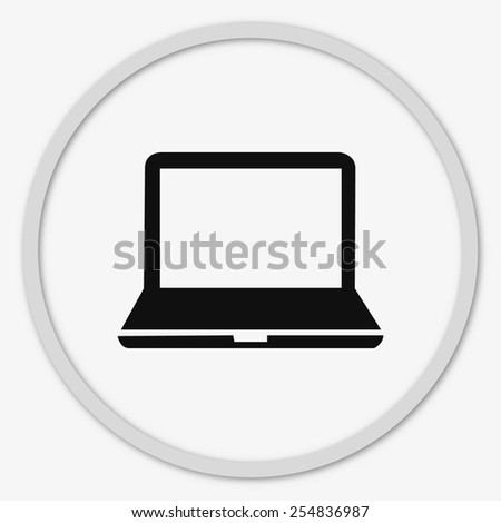 Protecting your computer laptop icon - stock vector