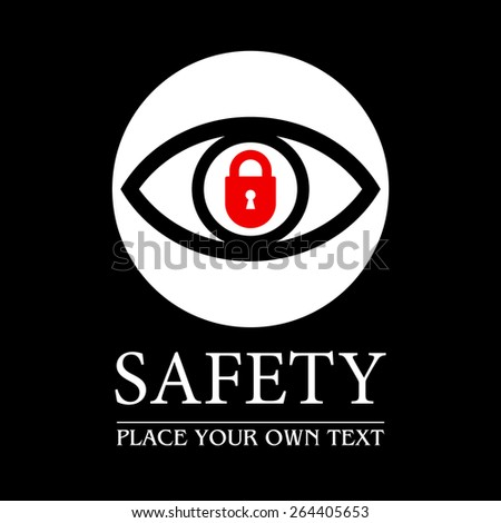 Protection and safety symbol vector design  - stock vector