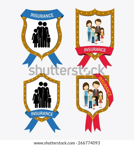 Protection design over white background, vector illustration - stock vector
