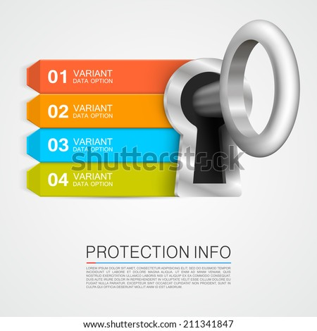 Protection info. Vector illustration - stock vector
