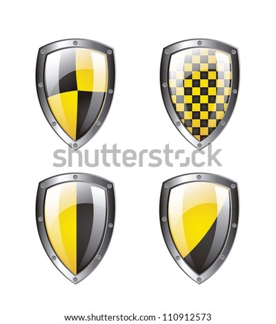 Protection shield isolated over white background. vector illustration - stock vector