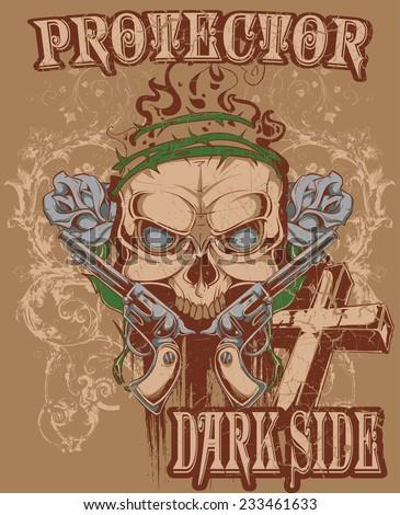 Protector of darkside - stock vector