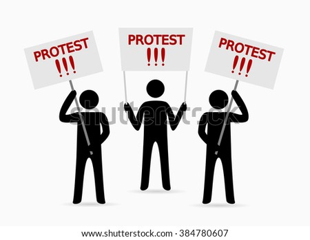 protesters people - stock vector