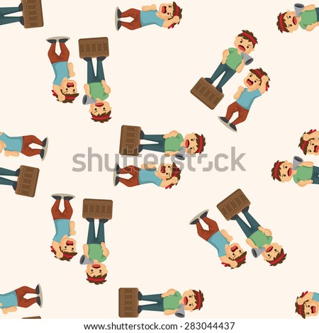Protesters ,seamless pattern - stock vector