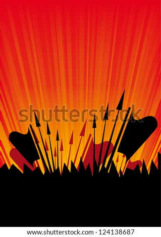 Protests - stock vector