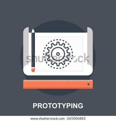 Prototyping - stock vector