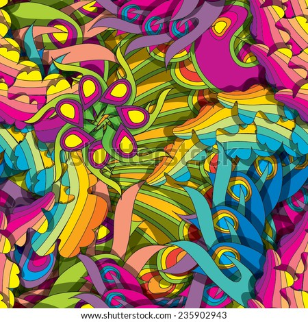 Psychedelic seamless pattern eps10 - stock vector