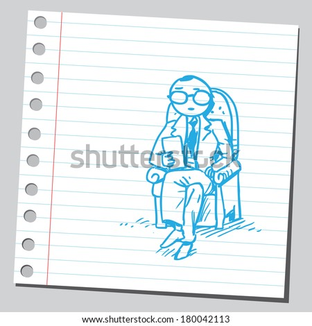 Psychiatrist - stock vector