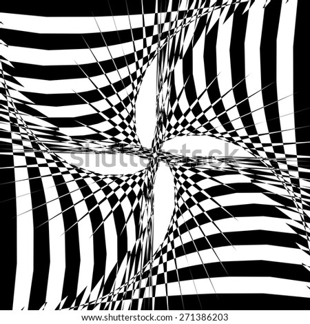 psycho background abstraction - stock vector