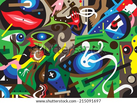 psychology abstract background - stock vector