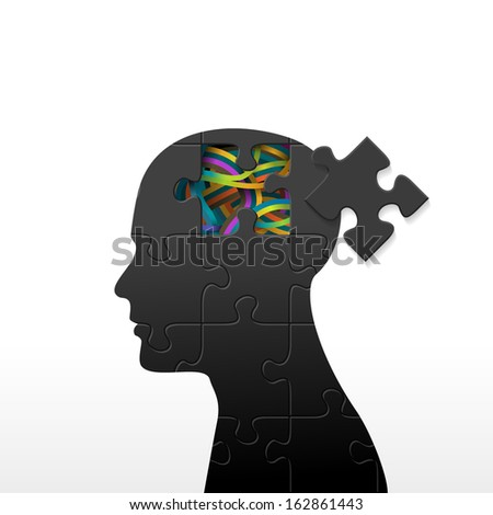 Psychology concept, eps10 vector - stock vector
