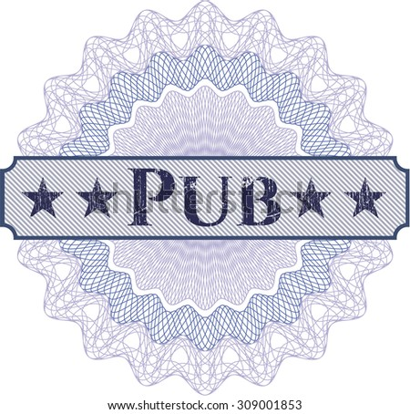 Pub abstract rosette - stock vector