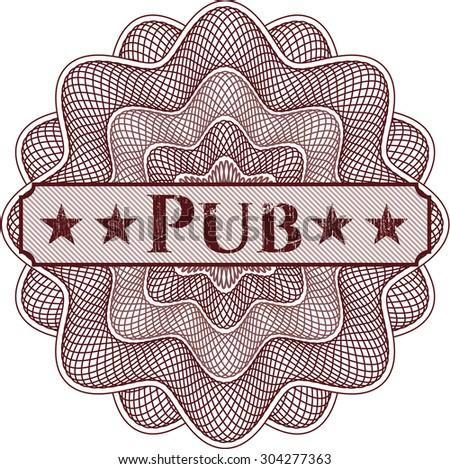 Pub rosette - stock vector