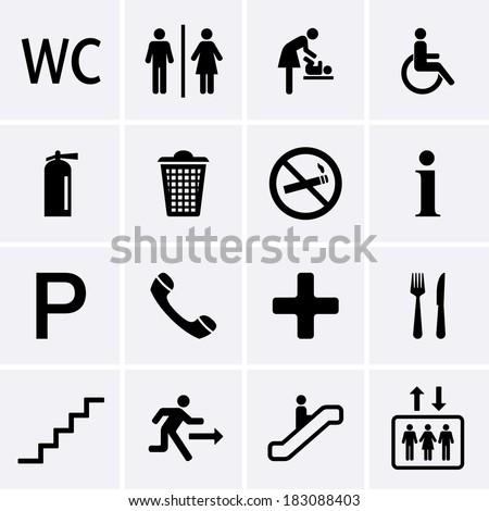 Public Icons - stock vector