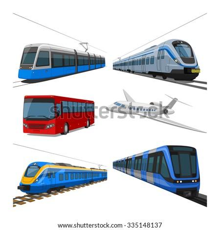 Public transport - stock vector