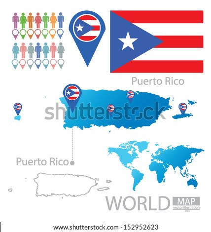 Where Puerto Rico is Located on The World Map Puerto Rico Flag World Map