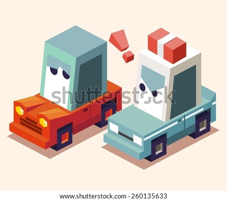 pulled over by the police. vector illustration - stock vector