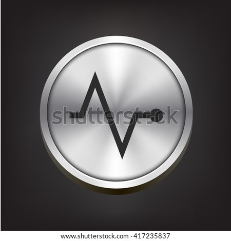 pulse icon. pulse sign - stock vector
