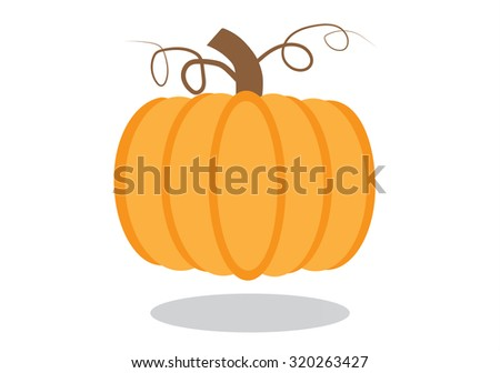 Pumpkin background halloween - stock vector