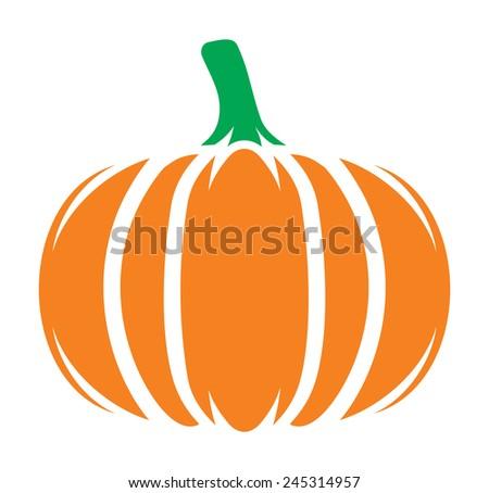 Pumpkin icon - stock vector
