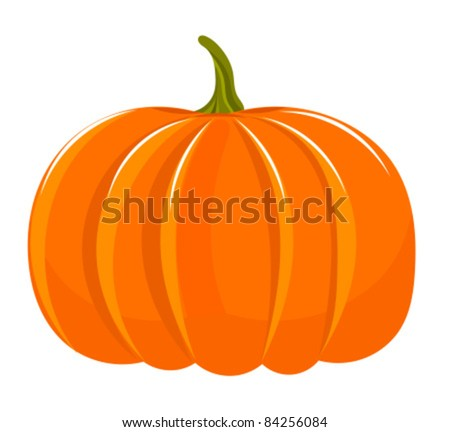 Pumpkin illustration isolated over white - stock vector