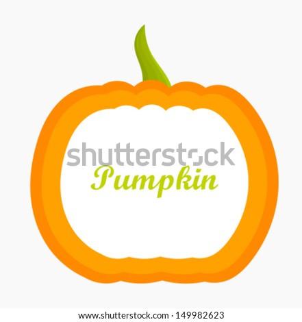 Pumpkin label. Vector illustration - stock vector