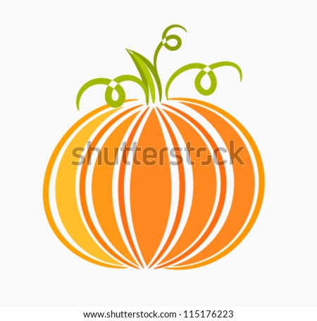 Pumpkin - vector illustration - stock vector