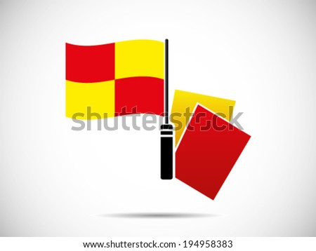 Punishment Red Yellow Card - stock vector