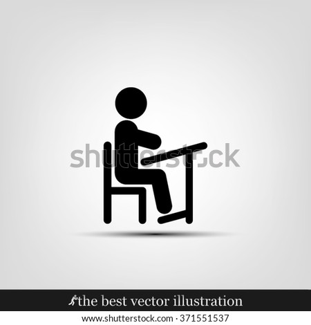Pupil icon vector illustration eps10. - stock vector