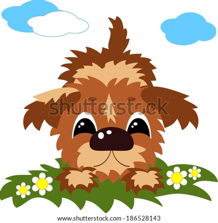 Puppy . - stock vector