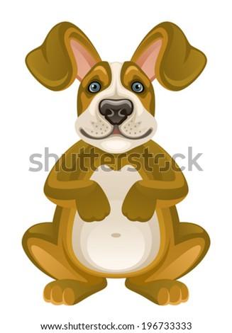 Puppy - stock vector