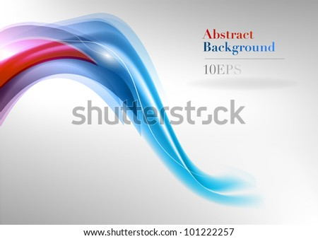 purple and blue abstract shape - stock vector