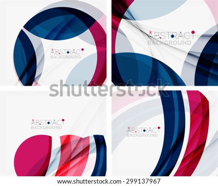 Purple and blue color shapes elegant abstraction for your message. Vector illustration. - stock vector