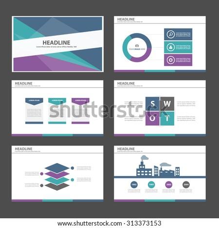 Purple blue green Multipurpose Infographic elements and icon presentation flat design set for advertising marketing brochure flyer leaflet - stock vector