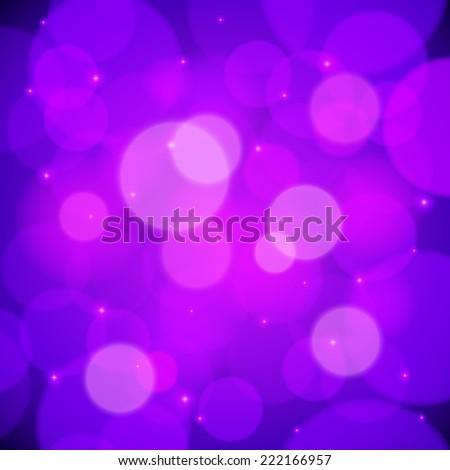 Purple bokeh effect vector abstract background - stock vector