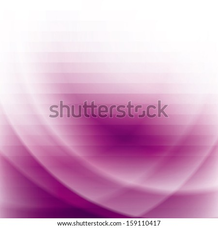 purple business background with stripes and waves, abstract vector illustration - stock vector