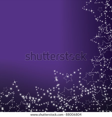 purple christmas background with star decorations - stock vector