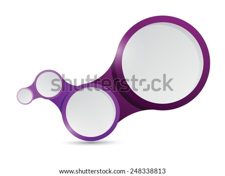 purple circle links connection illustration design over a white background - stock vector
