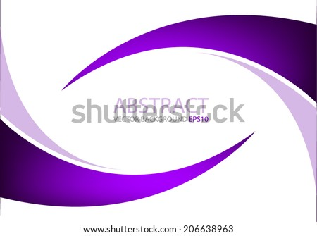 Purple curve line violet background on white color for text and message modern website design - stock vector