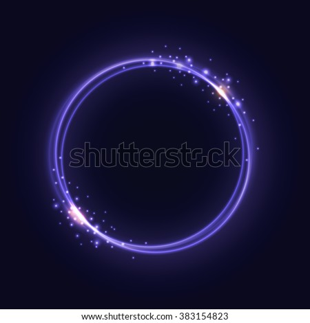 Purple Glowing Rings - vector eps10 abstract background - stock vector