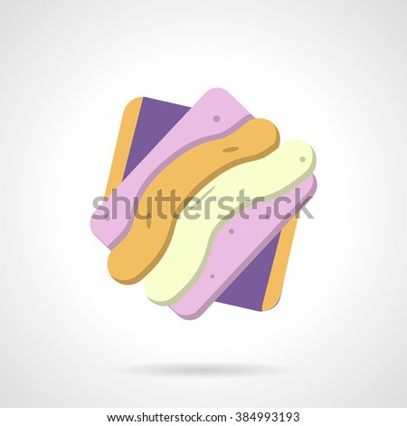 Purple jelly sweet or berry marmalade candy. Candy dessert. Sweets menu. Pastry and confectionery. Vector icon flat color style. Web design element for site, mobile and business. - stock vector
