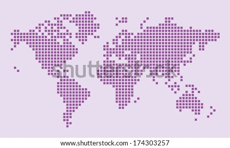 Purple map - stock vector