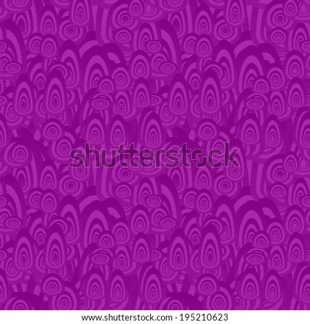Purple seamless oval pattern background - vector version - stock vector