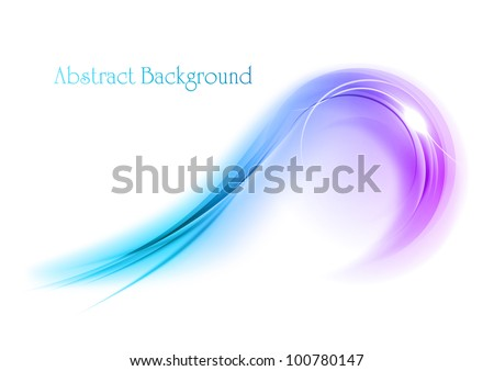 purple shape on the white background - stock vector