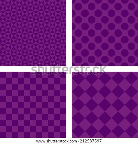 Purple simple wallpaper set - vector version - stock vector